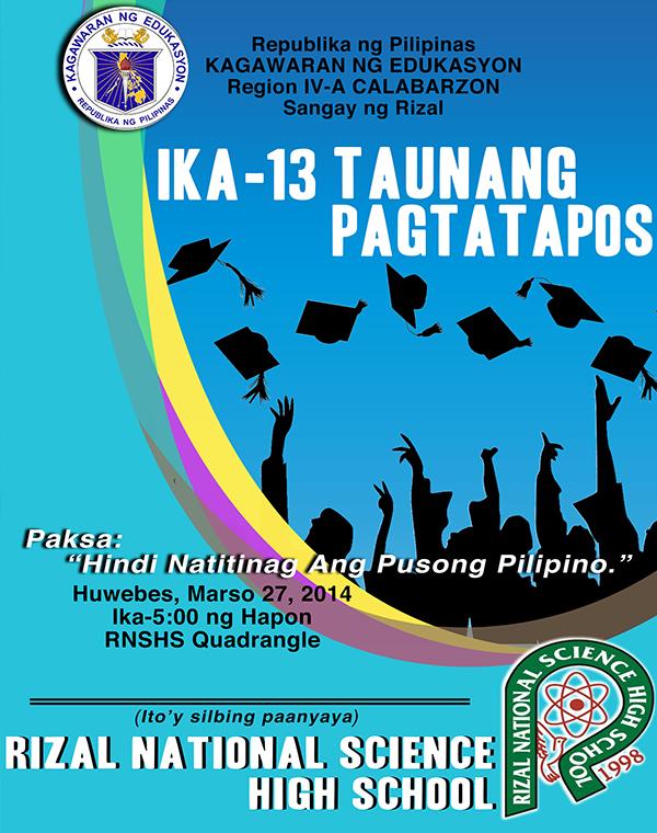 graduation program cover design