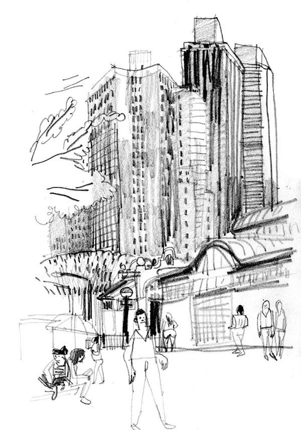 Drawings of New York on Pantone Canvas Gallery