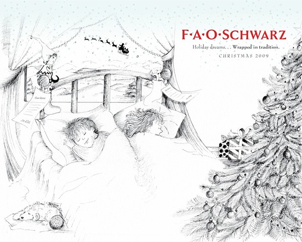 FAO Schwarz, winter book concepts on Behance