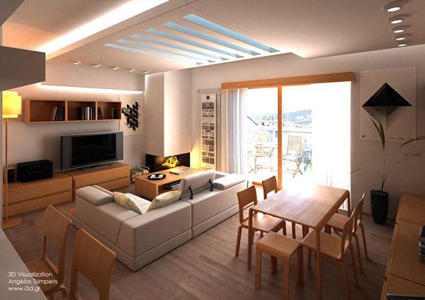 Interior Design Of A Two BedRoom Apartment on Behance