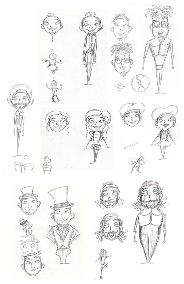 Circus characters on Behance