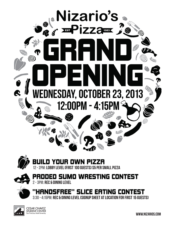 Nizario's Pizza Grand Opening on Behance