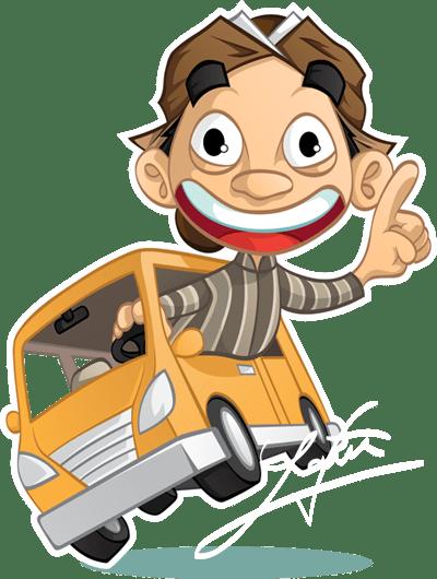 Kartun Blangkon : kartun, blangkon, Blangkon, Driving, Behance