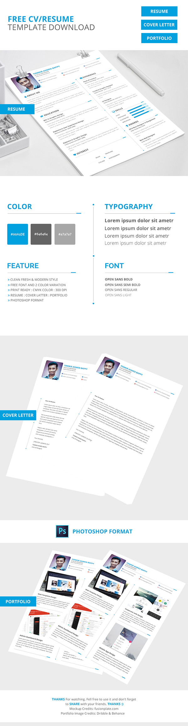 Web Design Resume Template Free Download Free Creative Resume Cv Template Download On Pantone Canvas Gallery