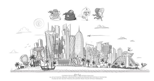Qatar: Doha App Game Concept Art on Wacom Gallery