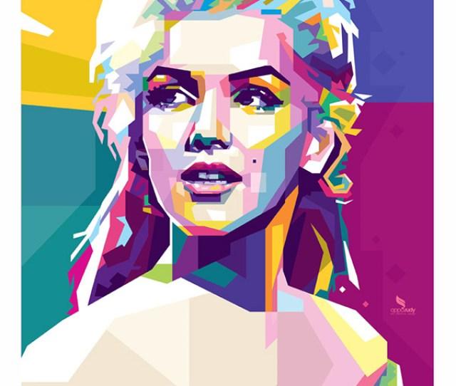 Marilyn Monroe In Wpap Wedhas Pop Art Portrait On Pantone