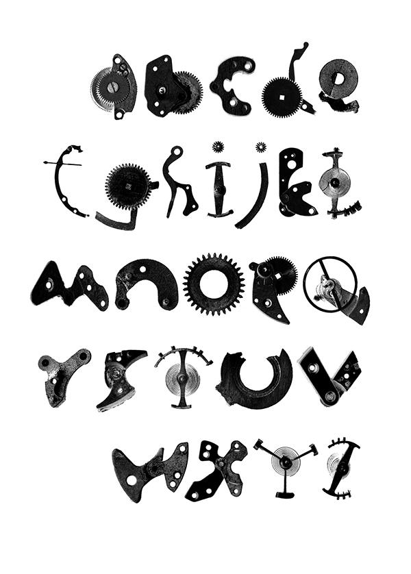 Clockwork typeface on Behance