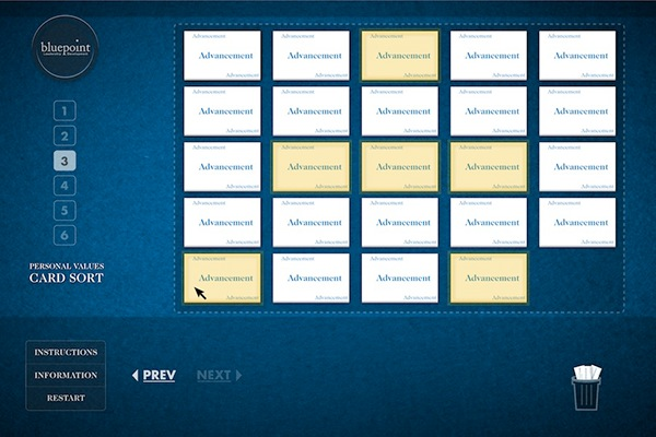 Bluepoint Personal Values Card Sort on Behance