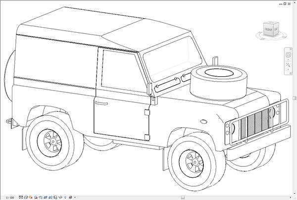 Land Rover Defender 90 (1985) Revit Family on Behance