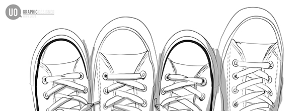 ilustración converse on Behance