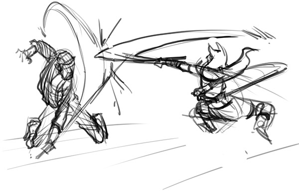 Star Wars Fight Scene on SCAD Portfolios