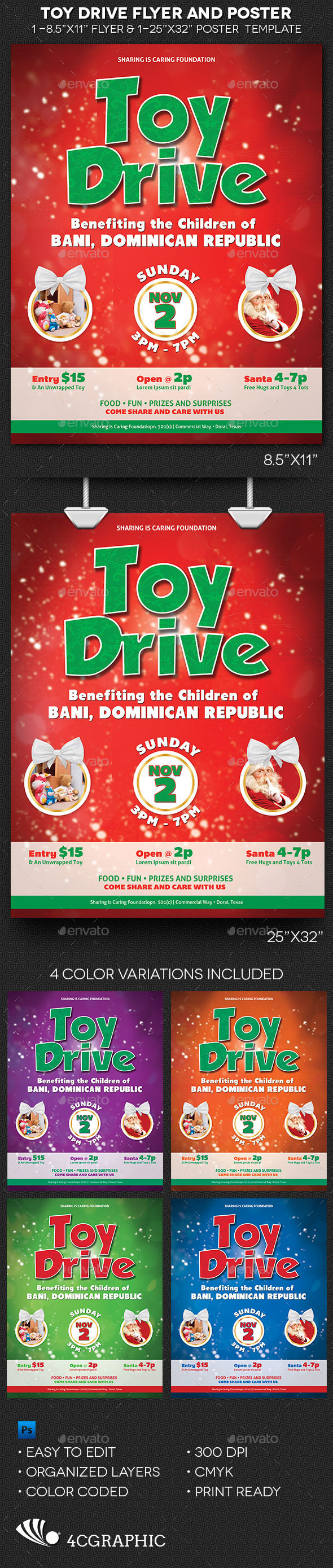 Toy Drive Flyer And Poster Template On Behance