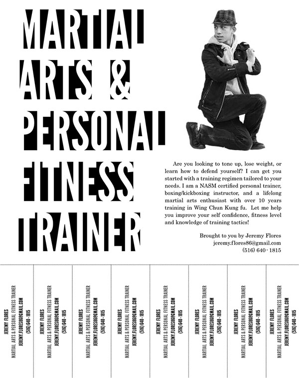 Martial Arts & Personal Fitness Trainer Flyers on Behance