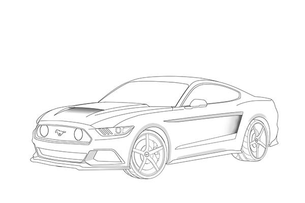 2015 Mustang Vector Designs on Behance
