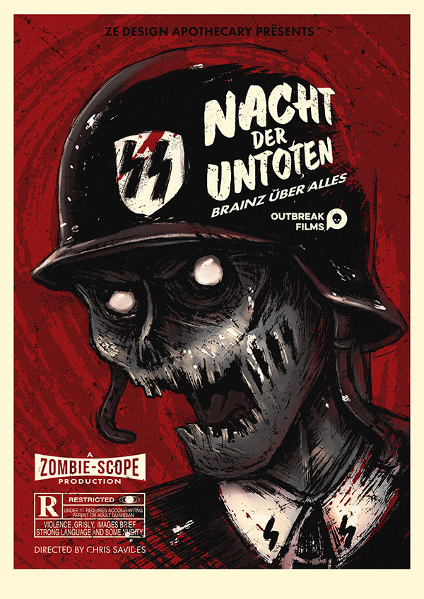 Vintage Zombie Film Posters Braaaaiiiins! on Behance