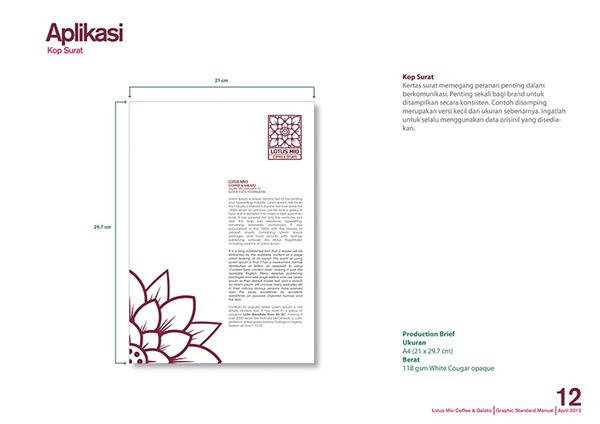 Graphic Standard Manual of Lotus Mio Coffee & Gelato on
