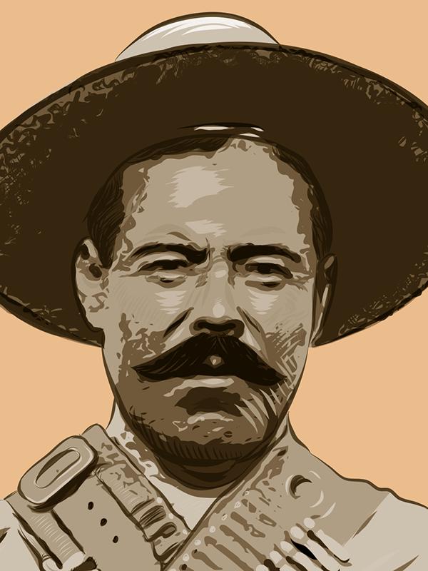 Pancho Villa By Antonio Romero On Pantone Canvas Gallery