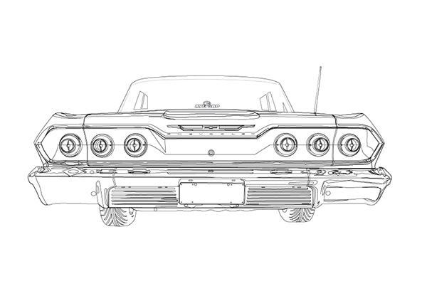 '63 Chevrolet Impala Illustration on Behance