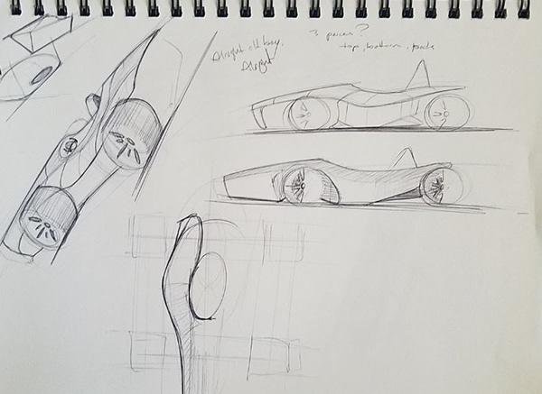 Auto Body 3D Modeling Columbia FSAE, Rhino on RISD Portfolios