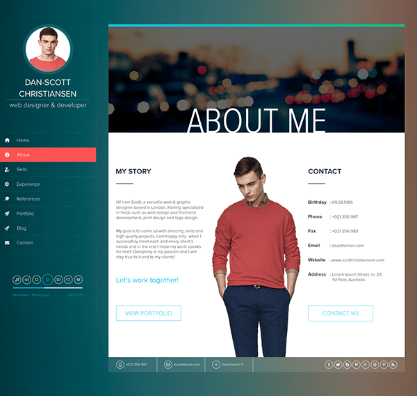 Personal Resume Website Example Personal Best Resume Sites 15 5