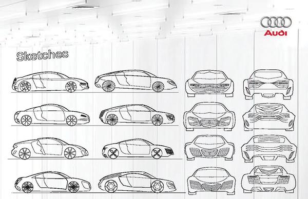 Audi R8 Concept on Behance