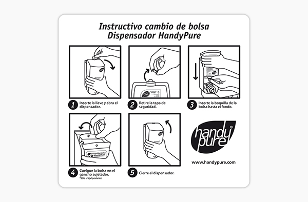 HANDY PURE • Productos de higiene / Hygiene products on