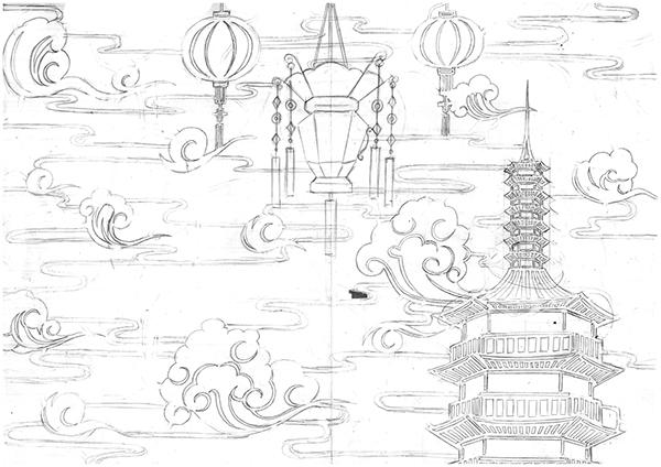 Tua Peh Kong Chinese temple / Digital Art on Behance