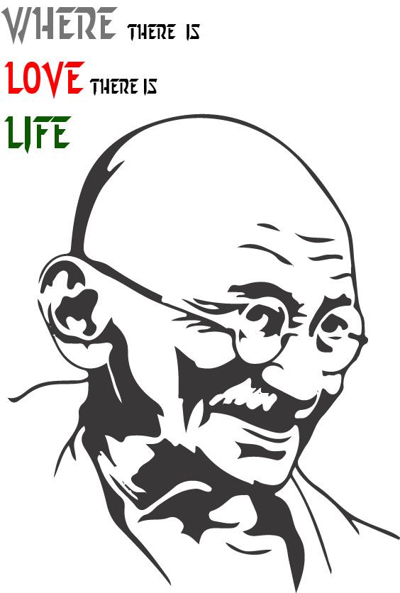 Gandhi on Behance