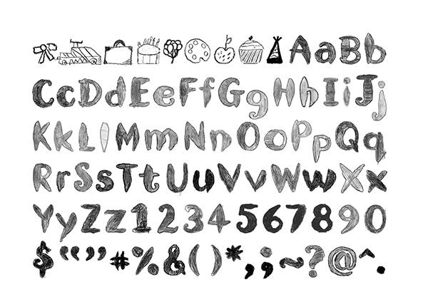 Nando's Kids typeface on Behance