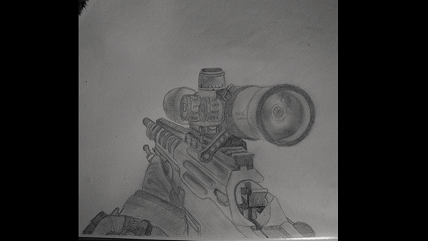Call of Duty gun drawings 2013 on Behance