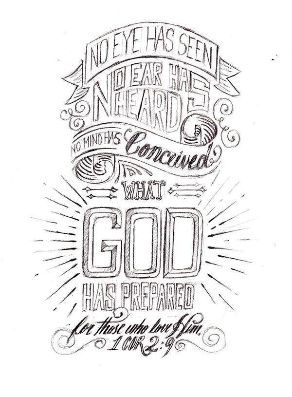 1 Corinthians 2:9 on Behance
