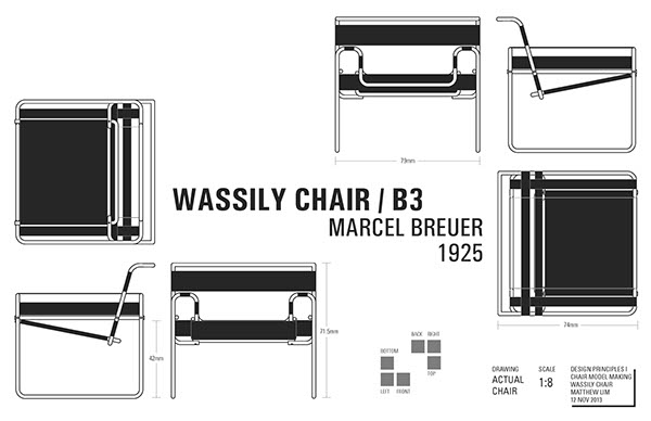 Wassily Chair  Scale Model on Behance