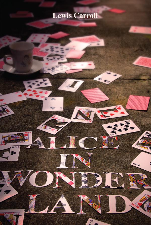 Alice in Wonderland book cover on Behance