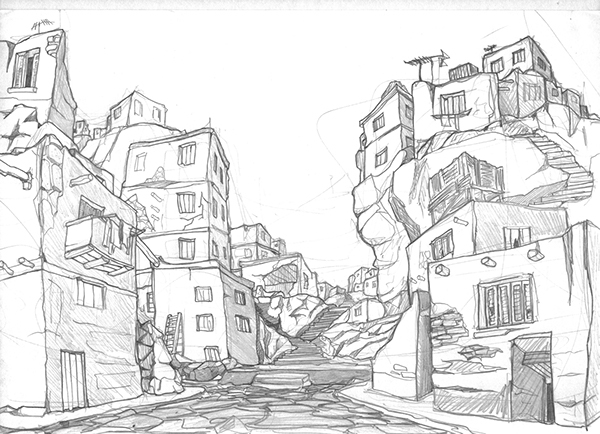 Quick landscapes sketches on Wacom Gallery