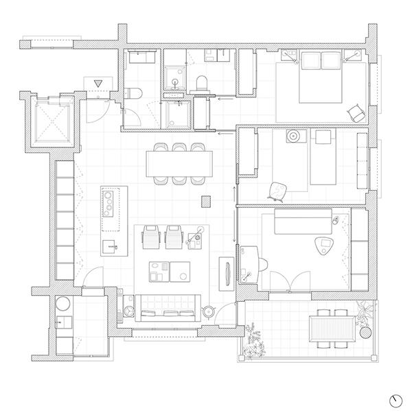 Apartment in Sanxenxo on Behance