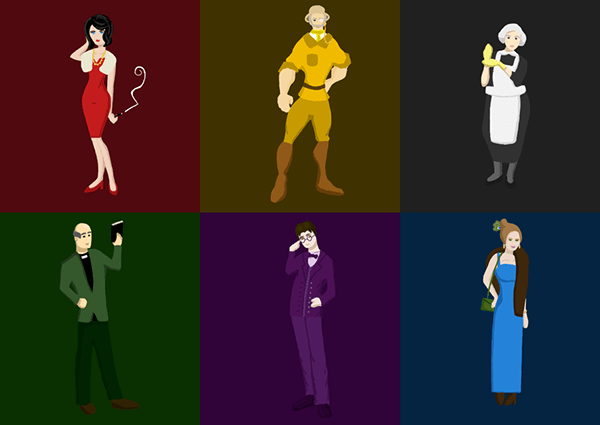 Cluedo Characters On Behance