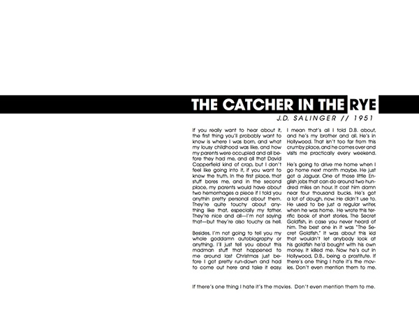 The Catcher In the Rye Book Page Design on Behance