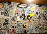 Wall for Red Bull doodle art exhibition on Behance