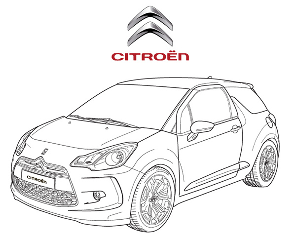 vector citroen DS 3 on Behance