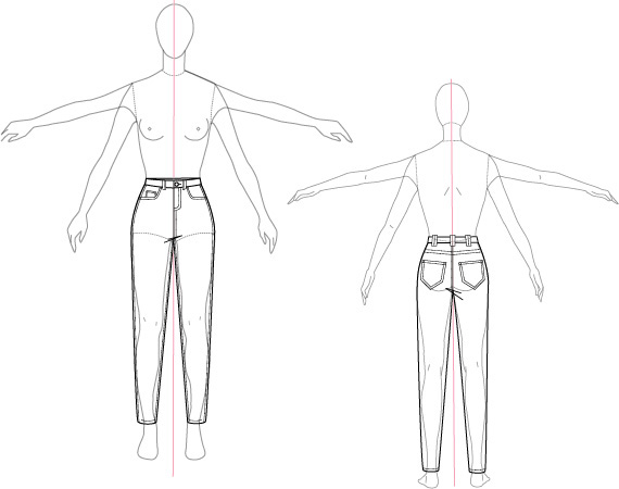 Fashion Illustration/Technical Sketch on SAIC Portfolios