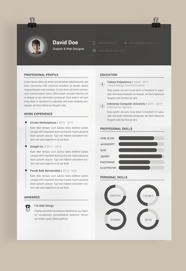 Best Free Resume Template Word Curriculum Vitae Cv
