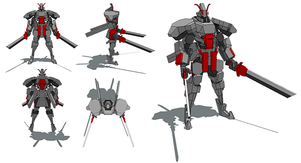 Samurai Bot Papercraft on Behance