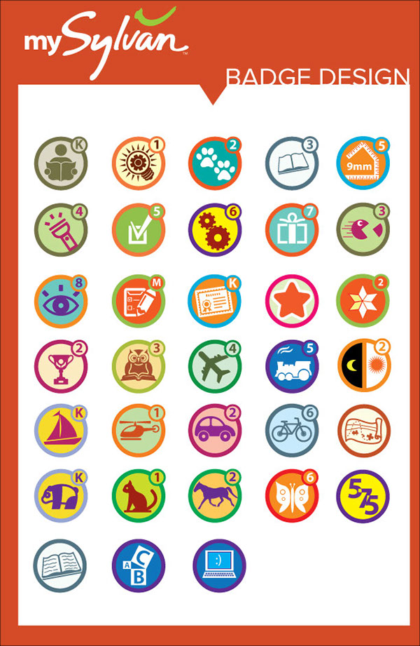 Student gamification badge designs on Behance