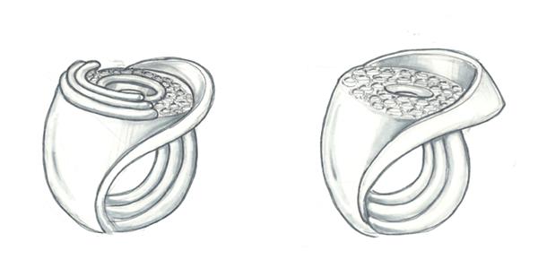 Jewelry for Mini Cooper client on SCAD Portfolios