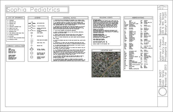 Pediatric Doctors Office CAD Construction Documents on