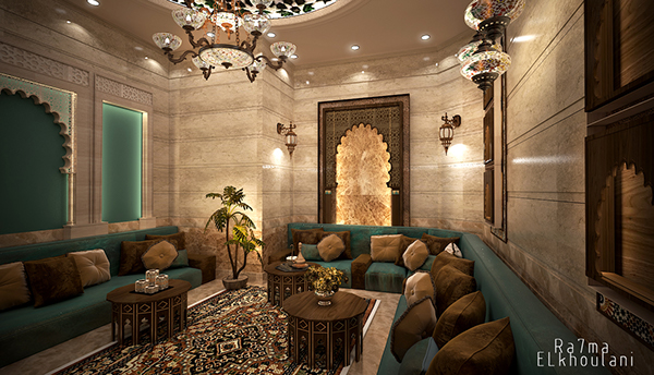 Moroccan Sitting Room on Behance