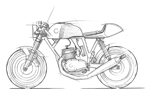 Image result for cafe racer design sketch