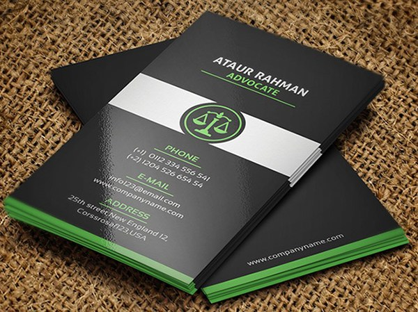 Free Lawyer Business Card Template on Behance