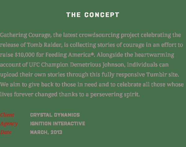 Tomb Raider: Gathering Courage on Behance