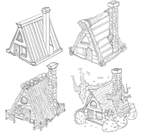 Cabin Designs w/ Props on SCAD Portfolios